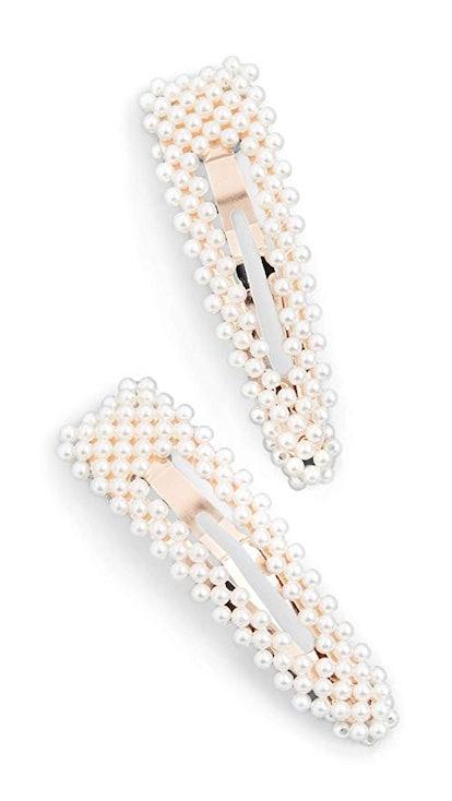 Loeffler Randall Women's Imitation Pearl Clip Set