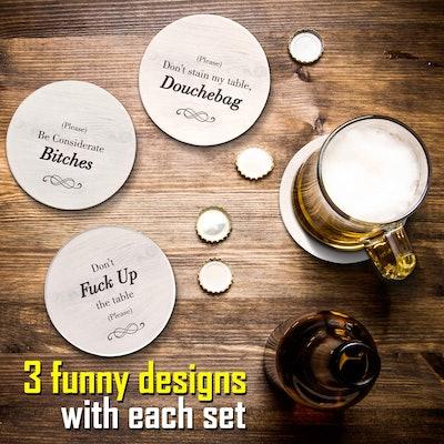 Ultimate Hostess Funny Coasters (6-Piece Set)