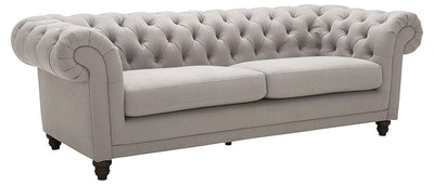 """Stone & Beam Bradbury Chesterfield Classic Sofa, 92.9""""W, Slate"""