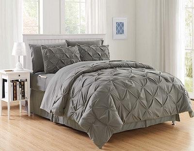 Elegant Comfort Bed-In-A-Bag Comforter Set (8 Pieces, Full/Queen)