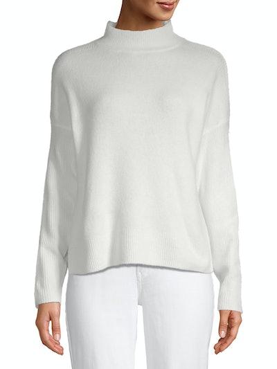 Time and Tru Women's Drop Shoulder Mock Neck Pullover