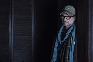 Mr. Robot with a hat is Elliot's violent father