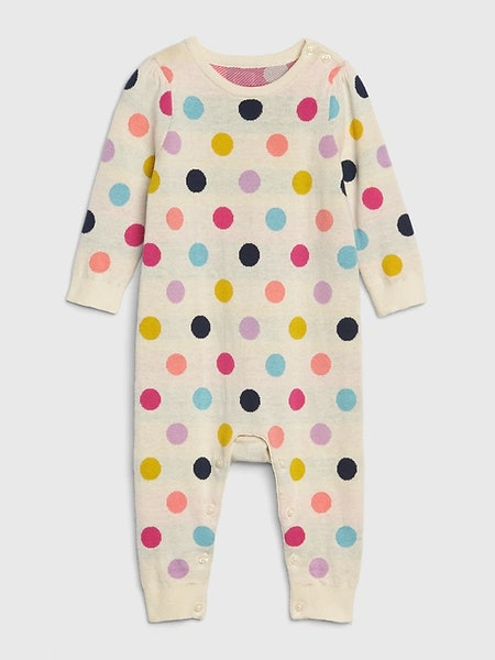 Baby Dot Sweater One-Piece