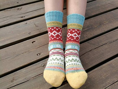 YZKKE Wool Crew Socks (5-Pack)