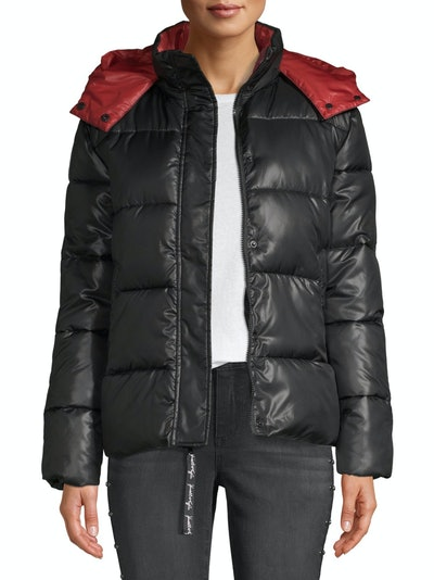 Kendall + Kylie Women's Two Tone Puffer