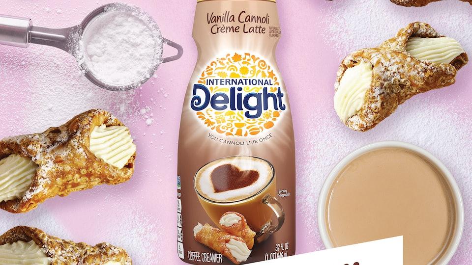 the new international delight vanilla crème cannoli flavor