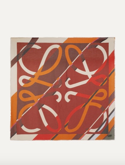Intarsia Wool Print Scarf
