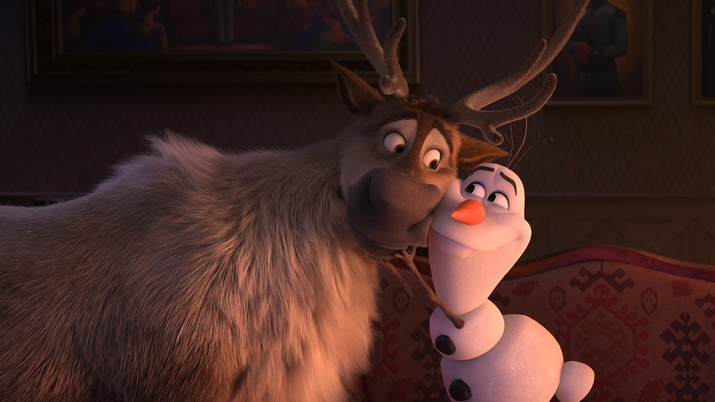 Sven & Olaf in 'Frozen 2' before the post-credit scene