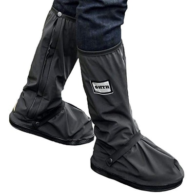 USHTH Black Waterproof Rain Boot Shoe Cover