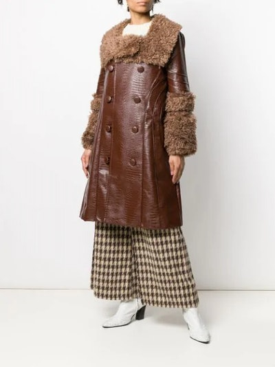 Croco double-breasted coat