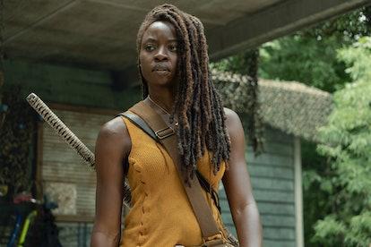Danai Gurira as Michonne in The Walking Dead Season 10