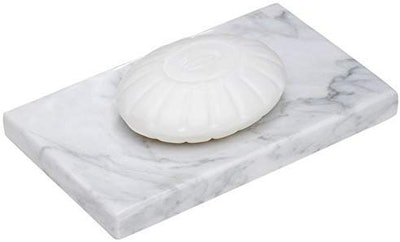 CraftsOfEgypt White Marble Soap Dish