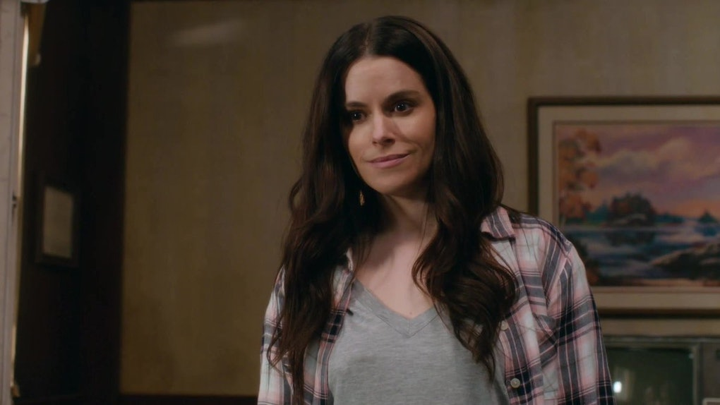 Emily Hampshire as Stevie Budd on 'Schitt's Creek'