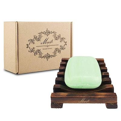 Magift Home Bathroom Wooden Soap Case Holder (2-Pack)