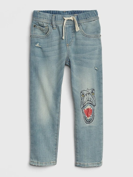 Toddler Dino Pull-On Slim Jeans with Fantastiflex