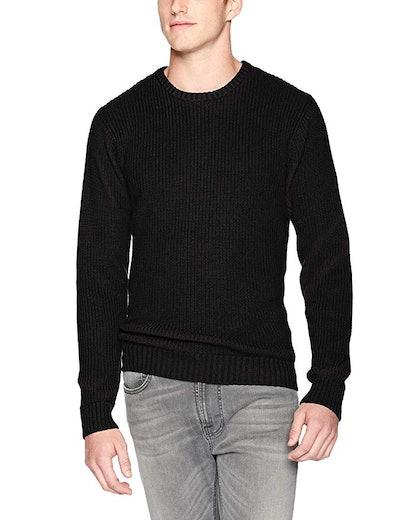 Goodthreads Men's Soft Cotton Rib Stitch Crewneck Sweater