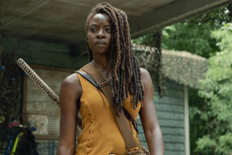 Danai Gurira as Michonne in The Walking Dead Season 10 midseason finale
