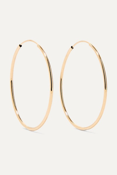 Infinity 14-Karat Gold Hoop Earrings