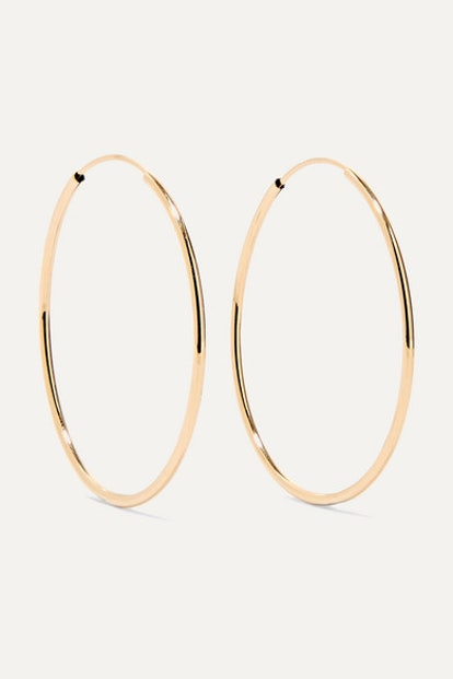 Infinity 14-Karat Gold Hoop Earrings