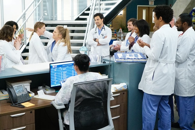 Meredith returned to work at Grey Sloan during the Nov. 21 mid-season fall finale of 'Grey's Anatomy' on ABC.