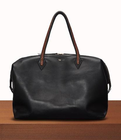 Perriand Weekend Bag Atelier Calfskin Black Cognac
