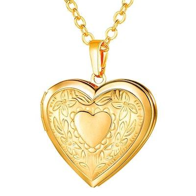 U7 Locket Necklace Platinum /18K Gold Photo Lockets
