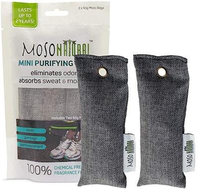 Moso Natural Mini Air Purifying Bag Shoe Deodorizer (2-Pack)