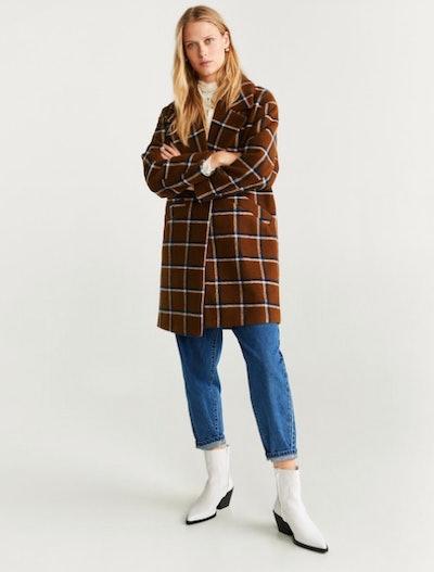 Checked Lapel Coats
