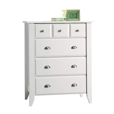 Sauder Shoal Creek 4-Drawer Dresser, Soft White finish
