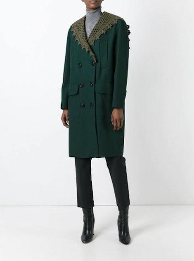 Detachable Shawl Collar Coat