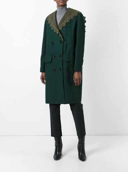 Detachable Shawl Collar Coat