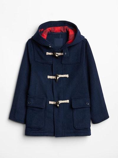 Kids Wool-Blend Duffle Coat