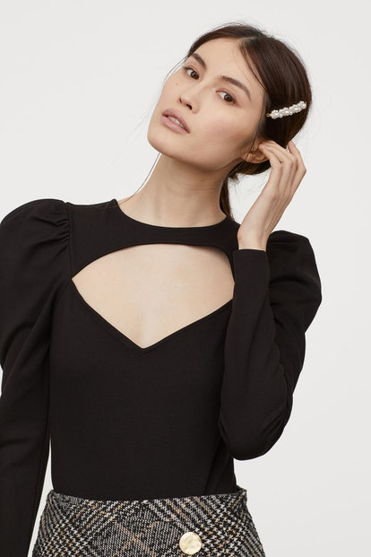 H&M Puff-Sleeved Bodysuit