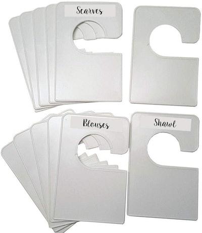 Closet Doodles Blank White Closet Dividers (12-Pack)