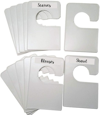 Closet Doodles Blank White Closet Dividers (12-Pack)