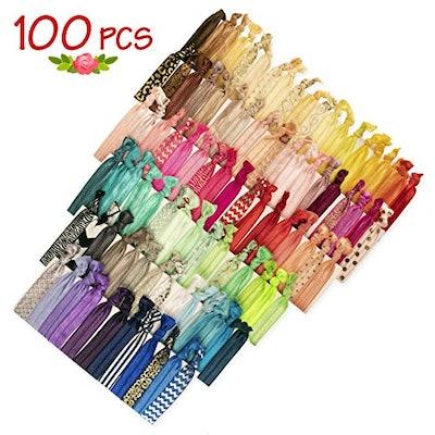 JLIKA Elastic Hair Ties (100-Pack)