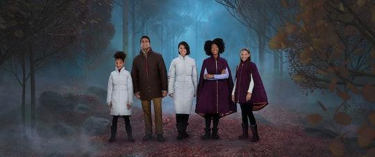 models wearing coats from Columbia's frozen 2 line
