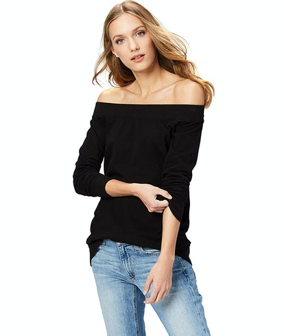 Amazon Brand - Daily Ritual Women's Terry Cotton and Modal Cold Shoulder Tunic
