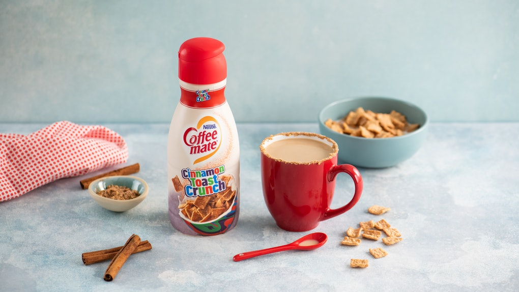 Coffee Mate's Cinnamon Toast Crunch Creamer is going to make your breakfasts so much sweeter.
