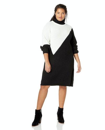 Vince Camuto Women's Plus Size Colorblock Sweater Dress