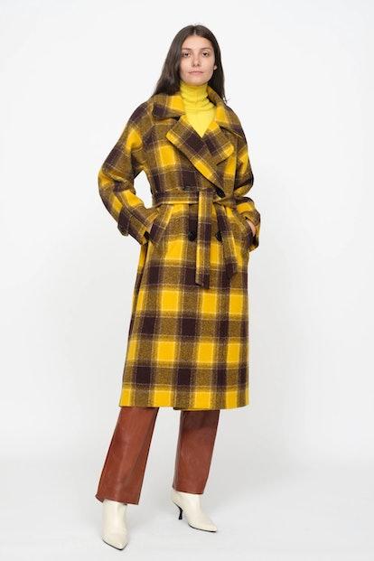 Amber Plaid Coat