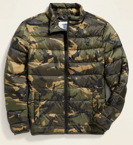 Water-Resistant Packable Quilted Jacket