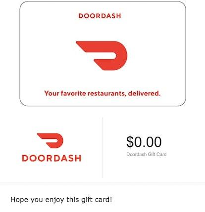 Doordash Gift Cards