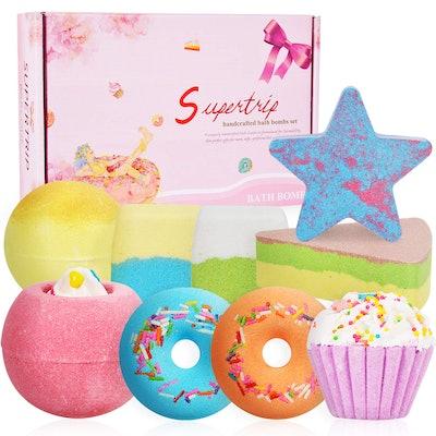 Supertrip Organic Bath Bombs Gift Set (Set of 9)