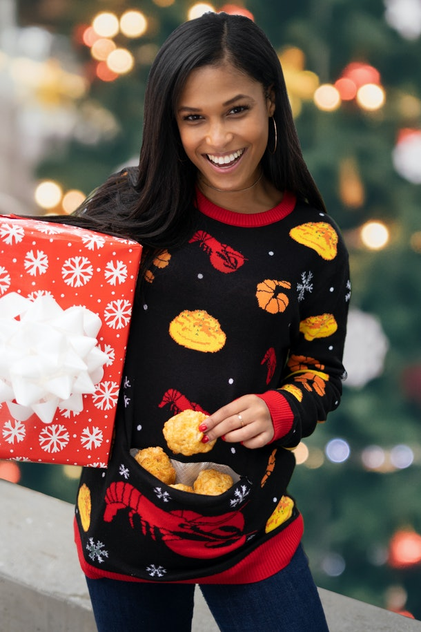 Red Lobster's 2019 Ugly Holiday Sweater does double duty.