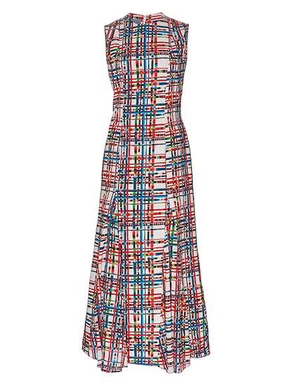 Striped Grid Anna Dress