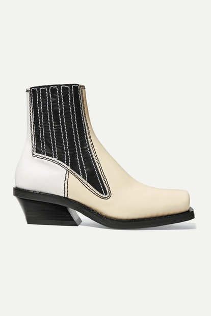 Paneled Ankle Boots