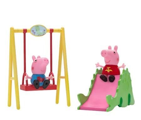 Peppa Pig Peppa & George Dinosaur Park Playtime Set