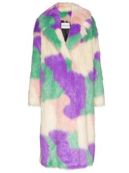 Clara Faux Fur Camouflage Coat