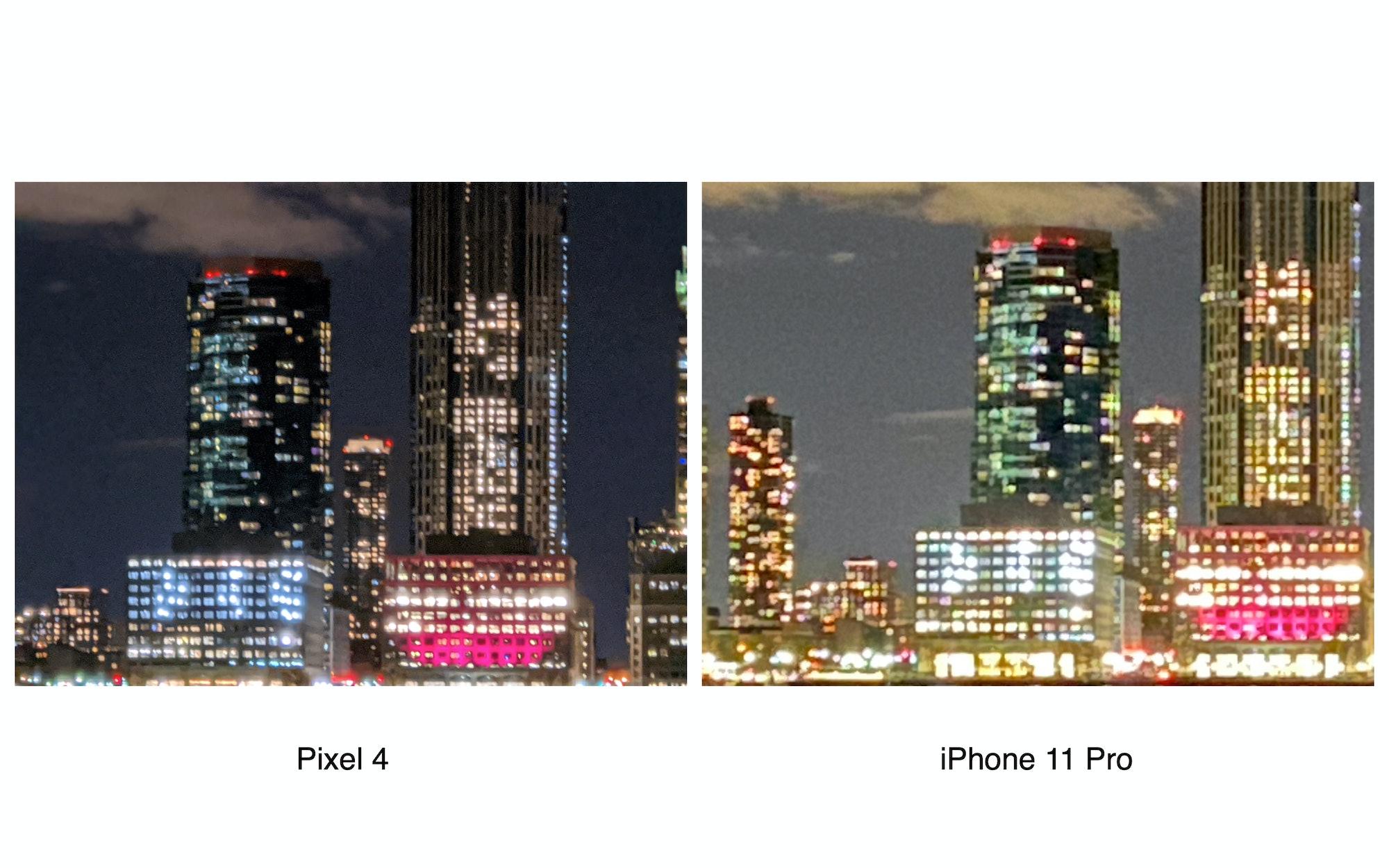 Pixel 4 8x digital zoom vs. iPhone 11 Pro